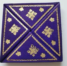 Moroccan leather magic small coin purse wallet PURPLE(2)