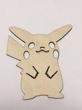 Pikachu Unfinished Wood Cutout, Laser cut wood, Crafting Supplies, Pokemon Go