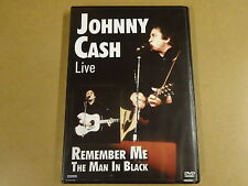 MUSIC DVD / JOHNNY CASH - LIVE - REMEMBER ME - THE MAN IN BLACK