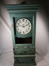 Antique Electric Oak Simplex Recorder Clock Needs Work Vhtf See Pictures