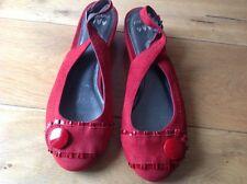 Ladies Per Una Red Suede Shoes. Taglia 3 NUOVO. prezzo consigliato £ 39.50
