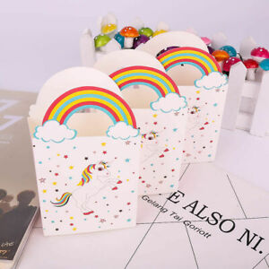 20x Paper Unicorn Bag Candy Box Treat Gift Loot Bags Kids Birthday Party Favour