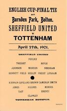 FA Cup Teams S-Z Final Sheffield United Football Programmes