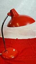 50s/60s Bauhaus Kaiser Idell Lampe 6786 rot Schreibtischlampe Desk lamp