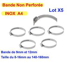 Collier De Serrage inox A4 ( Lot de 5 ) Ø Différentes Tailles, tuyau attache vis