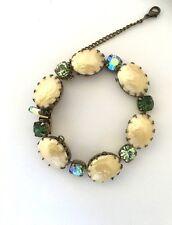 Regency Vintage Faux Pearl And Rhinestone Bracelet