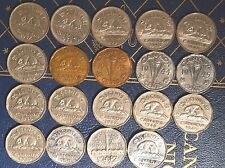 1937-1952  Complete 19 pc. set of King VI nickels -  Good condition