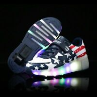 New Children Roller Skate Shoes Girls LED Sneakers With Wheel Girl Casual Shoe
