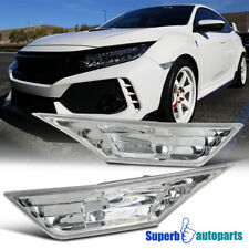 For 2016-2018 Honda Civic Side Marker Signal Lights Replacement+T10 LED Bulbs