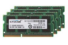 4x Crucial 8GB PC3L-12800 SODIMM RAM Laptop Memory DDR3L 1600Mhz Upgrade #6H