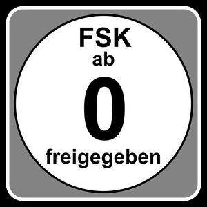 FSK 0 LABELS 100 Stück - (Label) - STICKER - 3,46 x 3,46 cm für DVD und Blu-ray