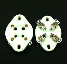 4 Pin UX4 Chassis Mount Ceramic Valve Tubes Socket for 2A3, 300B, etc.