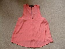 Strappy, Spaghetti Strap No Pattern Polyester Petite Women's Tops & Shirts