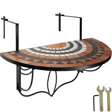 Mesa de Balcón Plegable Mosaico Mesa de Café colgante Mesa Colgar tierra-blanco