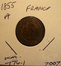 France Deux Centimes 1855A Coin