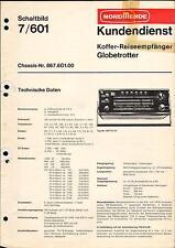 Nordmende Service Manual für Globetrotter 7.601  Copy