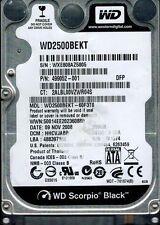 WESTERN DIGITAL 250GB WD2500BEKT-60F3T0 DCM: HHCVJABB