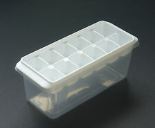 Ice Tray Cube with Ice Container 12 Cubes KOKUBO Made in Japan white