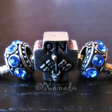 Registered Nurse Caduceus Bead And Birthstone For European Style Charm Bracelets