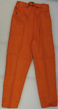 Vintage girls jeans 1960s UNUSED hippie trousers Age 8 years orange slacks