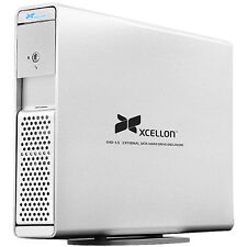 "Xcellon EHD-3.5 SATA Hard Drive Enclosure for 3.5"""" Internal Hard-Disk Drives"