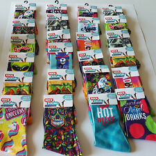 24 Pairs Wholesale Bulk Lot Assorted Designs Novelty Dress Socks Funny Casual