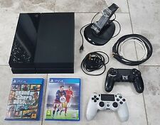PLAYSTATION 4 PS4 500GB Black Console Bundle + GTA FIFA **Fast & Free Delivery**