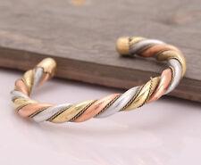 Unisex Magnetic Healing Bio Therapy Tibetan Pain Reliever Copper Bracelet