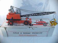 Joustra n° 911 Grue avec benne preneuse RARE en boîte/inbox 63 cm