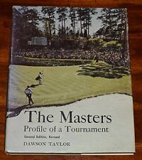 THE MASTERS PROFILE OF A TOURNAMENT DAWSON TAYLOR HC DJ 1973 2ND EDITION REVISED
