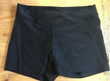 Theatricals DANCE Booty Active Shorts Black Size SMALL S EUC V-Waist