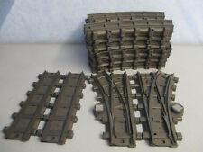 24 gebogene 2 gerade Schienen 1 Weiche rechts links RC Eisenbahn Playmobil 3451
