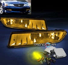 2002-2003 ACURA TL FRONT BUMPER DRIVING FOG LIGHTS LAMPS JDM YELLOW W/3000K HID