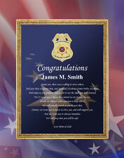 Police Academy Sheriff Graduation Gift 11x14 Unframed Poem Mat Policeman School