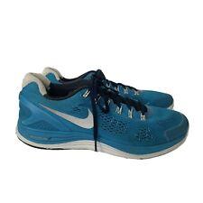 Nike Lunarglide 4 Blue White Reflective Running Shoes Mesh Athletic Men's 12