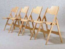 4x (Set) Klappstuhl SE 18 von Egon Eiermann für Wilde+Spieth Buche Stuhl Neu