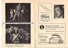 Autograph Autogramm Städtische Bühne Lola Müthel 1953  Singer Sänger Bühne 203