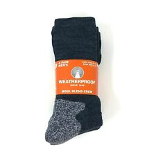 New 4 Pair Navy Mens Heavy Duty Warm Work Merino Wool Socks Crew Size 6-12