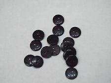 10pc 13mm Black Suit Cardigan Trouser Shirt Blouse Kid Baby Button 0298