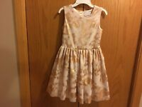 Girls The Children's Place Pink Rose Fancy Dress Size 8