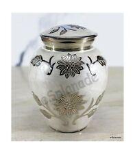 eSplanade Mother Of Pearl Brass Cremation urn Memorials urns Container Jar Po.
