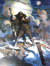 Vintage Art N C Wyeth Poems of American Patriotism WWI Poster War Soldier Rifle