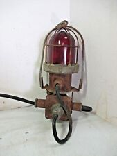 """Industrial Commercial Explosion Proof Red Light with Steel Cage """"R"""" 4594-L-7"""