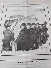Caricature 1891 Courses din de siècle Tableau de prochain salon dédié à Constan