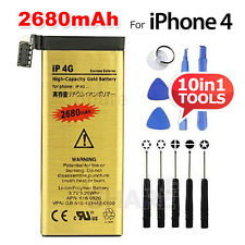 High Capacity 2680mAh  Replacement Battery For Apple iPhone 4 Gold Free Tool Kit
