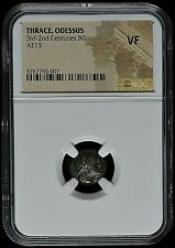 ANCIENT GREECE - THRACE, ODESSUS AE13 -3rd-2nd CENTURIES BC  -NGC VF