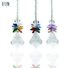 Crystal Rainbow Angel Ornament Chakra Hanging Suncatcher Window Pendant Decor