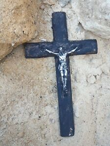 Rare Antique Ancient Egyptian Silver Coptic Cross Jesus Crossed christian 22 AD