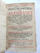 [Ludovico Marracci]. Al-Coranus [Coran]. Lipsiae 1721.