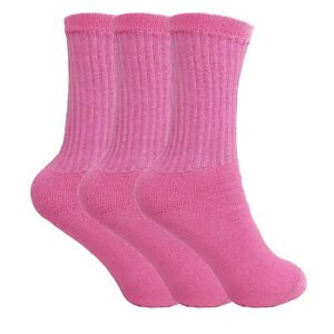 Cotton Crew Socks for Women 3 PAIRS Smooth Toe Seam Socks
